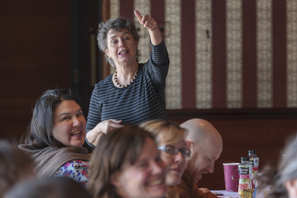 PDP Workshop Leader Jackie Battenfield leads artist participants during a Core Weekend Workshop in Anchorage, AK. The workshop was our first in Alaska, in May 2014.