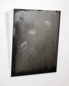 Brittany Nelson - Monolith 1, 2016 Tintype photograph, powder coated formed aluminum; 24x20 inches Courtesy David Klein Gallery and the artist